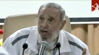 Fidel Castro, Cuban TV grab