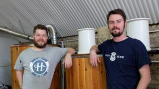 Peter Hills (left) and Jon Swain of Hackney Brewery