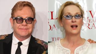 Sir Elton John and Meryl Streep