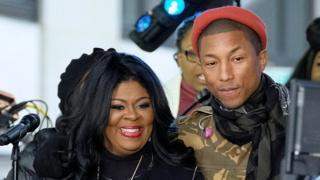 Kim Burrell and Pharrell Williams