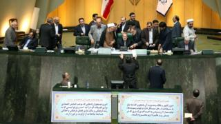 Iranian parliamentary session on 13 October 2015