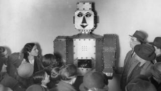 Robot fortune teller circa 1934