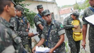 In Brazil, the army has been drafted in to help with the crisis.