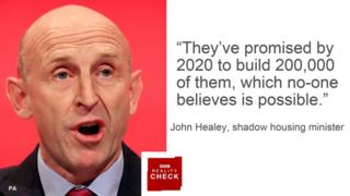 John Healey saying: They