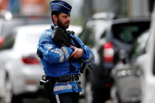 A police officer in Brussels, 17 June