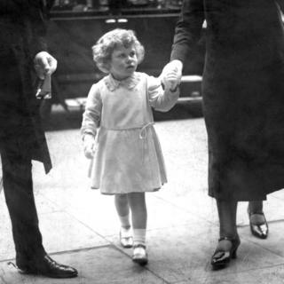 Princess Elizabeth arriving at Olympia for the Royal Tournament
