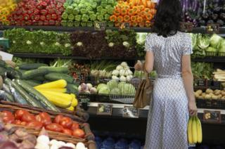 Woman in grocers