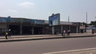 Shops in Kinshasa were closed