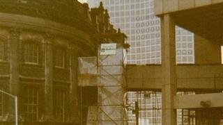 1973; looking at the old Central Library from the new - From Birmingham City Council website