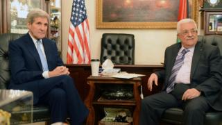 Israeli-Palestinian violence: Kerry in talks with Abbas
