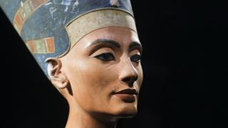 A 3,300-year-old bust of Queen Nefertiti at the New Museum in Berlin