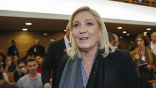 Marine Le Pen in court in Lyon (20 October)