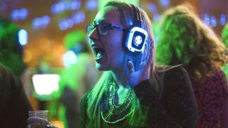 File image of a silent disco reveller