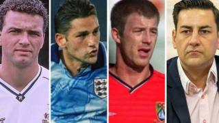 The four players to speak publicly have each waived their right to anonymity as sex abuse victims. (Left to right) Paul Stewart, David White, Steve Walters and Andy Woodward have also gone public with their ordeals