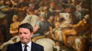 Matteo Renzi, akiongea Palazzo Chigi mjini Roma, Italia, 4 Desemba 2016