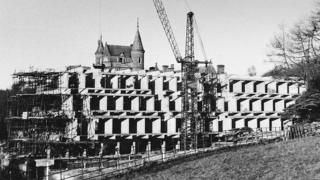 St Peter's College under construction, mid-1960s