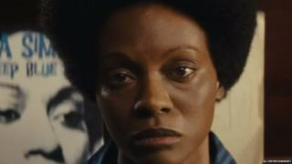 Zoe Saldana as Nina Simone in Nina