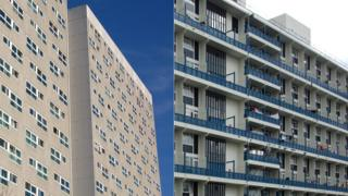 Council housing in London (library photographs)