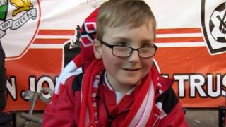 Young Bristol City fan Oskar Pycroft shortlisted for Football League award - BBC News  89162289 89162288