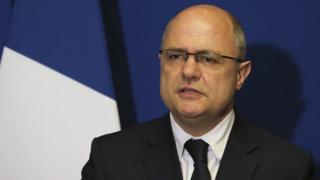 France's Interior Minister Bruno Le Roux announces his resignation at a press conference in Bobigny, north of Paris, 21 March 2017