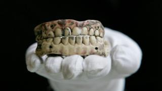 Old pair of dentures