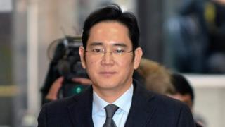Lee Jae-yong, vice chairman of Samsung Group, arrives at the office of the Independent Counsel for questioning in Seoul, South Korea, 13 February 2017