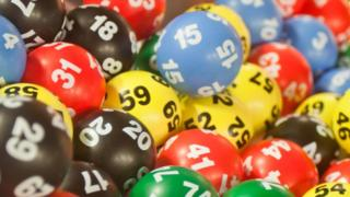 A photo of lottery balls
