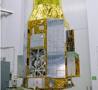 The ASTRO-H or Hitomi satellite, indoors, before launch
