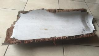 Plane part found in Mozambique in December