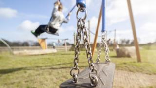 A child on a swing