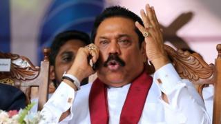 Former Sri Lankan President Mahinda Rajapaksa (14 August 2015)