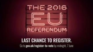 Electoral Commission advert