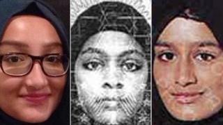Kadiza Sultana, Amira Abase and Shamima Begum