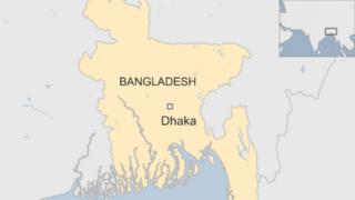 map of Bangladesh showing the capital city, Dhaka