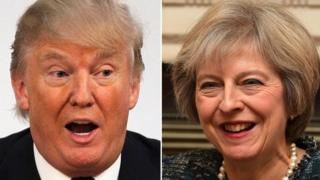 Trump 'looks forward' to meeting Theresa May