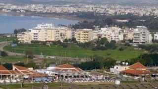 Aerial view of the city of Larnaca, in the Republic of Cyprus