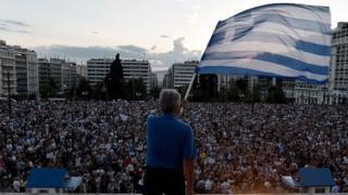 Greek protester