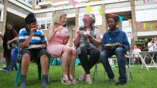 Community lunch in Hackney in 2016