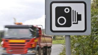 Speed camera sign