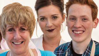 Bake Off 2016 finalists - Jane, Candice and Andrew