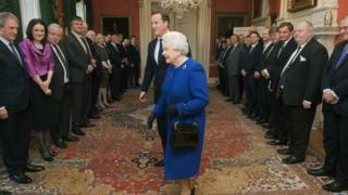 The Queen meets the UK cabinet in Downing Street