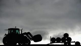 Tractor silhouette
