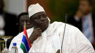 "Gambia""s President Al Hadji Yahya Jammeh attends the plenary session of the Africa-South America Summit on Margarita Island September 27, 2009"