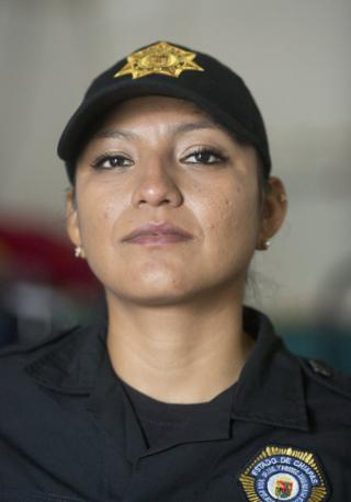 Sgt Lopez in her uniform