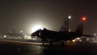 MARCH 21: A F-15E Strike Eagle from the 355th Expeditionary Fighter Squadro