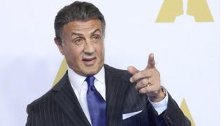 Sylvester Stallone at the Oscars luncheon