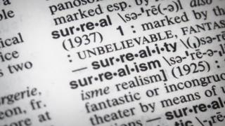 """""""Surreal"""" entry in Merriam-Webster's dictionary."""