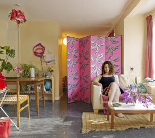 Victoria in her flat
