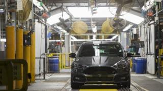 Ford Focus on assembly line
