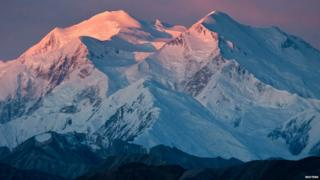 Mount McKinley is shown in this handout photo provided by the National Park Service in Alaska 11 January 2011